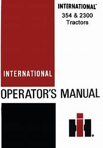 International 354 2300 Tractor Manuals Pdf 9 99  U2013 Farm