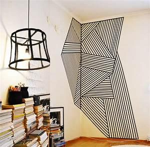 Wandgestaltung Mit Klebeband : w nde gestalten mit washi tape klebeband wandverkleidung ~ Lizthompson.info Haus und Dekorationen