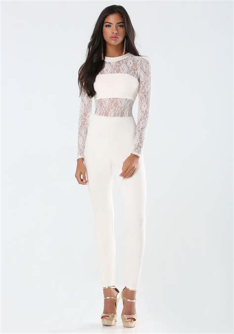 lace jumpsuit white fashion 39 s clothing 2017 fashion ql