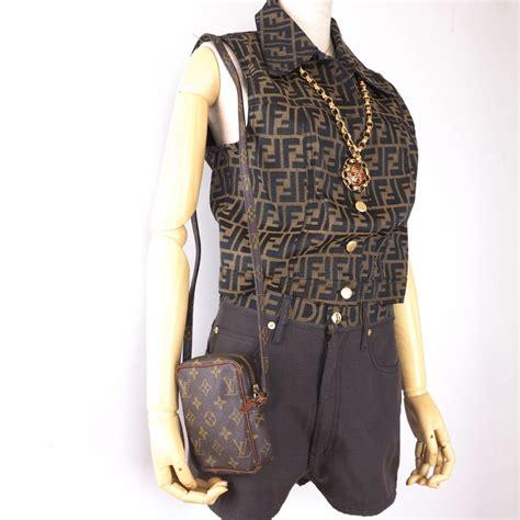 vintage louis vuitton  mini posh monogram rare danube shoulder bag nina furfur vintage boutique
