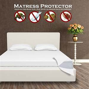 waterproof mattress protector encasement zippered anti With anti bed bug mattress cover