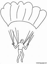 Coloring Pages Skydiving Parachute Parachuting Template Printable Getcolorings sketch template