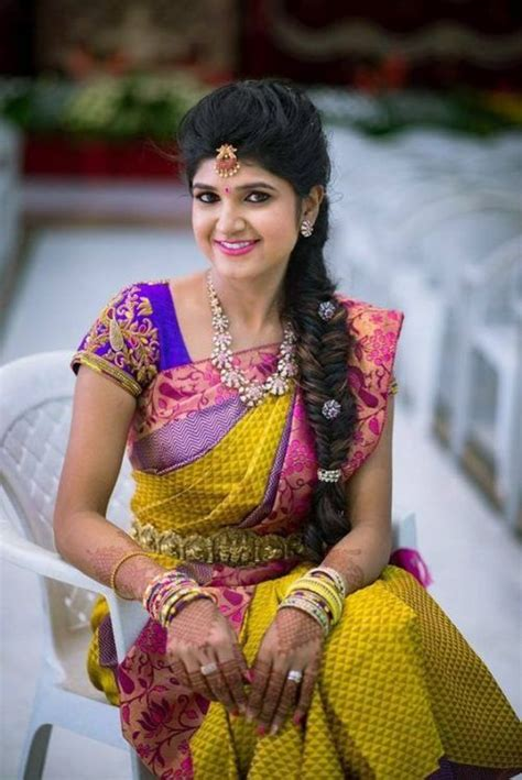 south indian hairstyles  show   thick long
