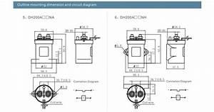 High Voltage Dc Contactor Dh200