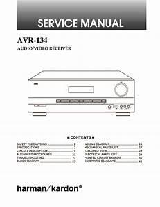 Harman Kardon Avr 134 Service Manual  U2014 View Online Or Download Repair Manual