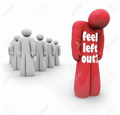 Clipart Left Isolated Outsider Person Feel Feeling
