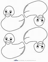 Duck Ducks Coloring Rubber Printable Five Pages Printables Ducky Blank Coolest Shower Thank Cards Colouring Crafts Drawing Footprints Activities Sand sketch template