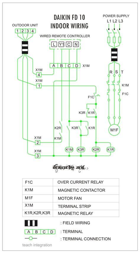 Daikin Indoor Wiring Split Duct Refrigeration