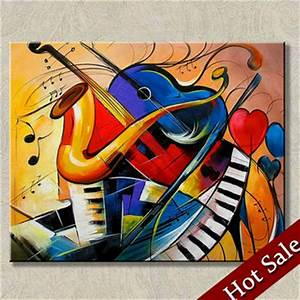 Surrealist Painting Abstract Art Music Theme,High-quality