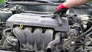How To Replace Toyota Corolla Vvt-i Engine Project  Part 11  52 Engine Cover Remove