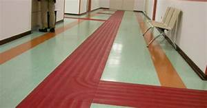 The Red  What Looks Like Tape  Trail Makes It Easier For The Visually Impaired To Follow Through