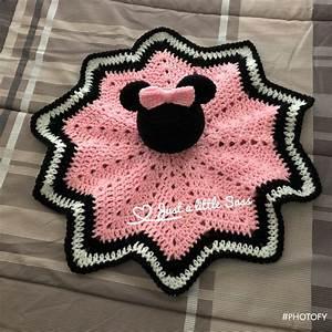 Minnie Mouse Lovey Blanket Crochet