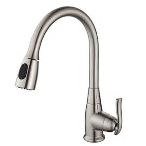single kitchen faucet with pull out spray kraus kpf 2230sn single handle pull out spray kitchen faucet in satin nickel homeclick com