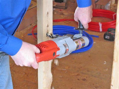 install  pex plumbing system  tos diy