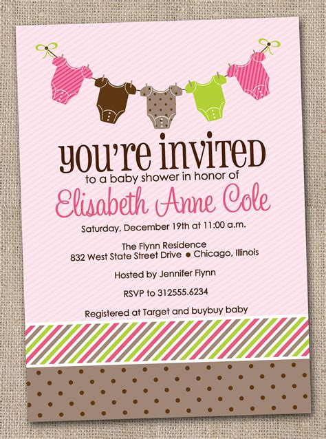 Free Printable Baby Shower Invitations For - printable baby shower invitations baby by