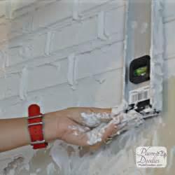 sticky backsplash for kitchen faux bricks using drywall mud plum doodles