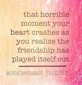 SAD QUOTES ABOUT FRIENDSHIP TUMBLR image quotes at ...