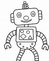 Coloring Robot Printable Robots sketch template