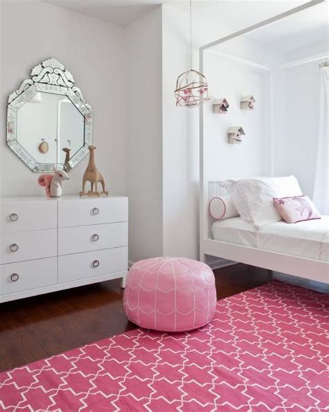pink girl s room design in bohemian style kidsomania