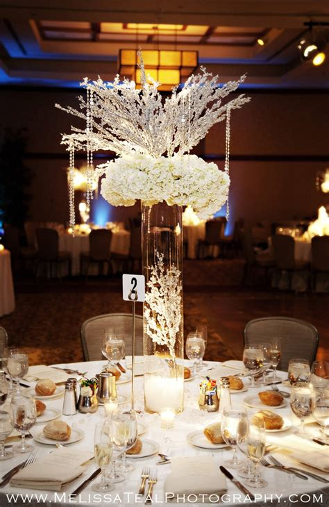 winter wedding table decor wedding reception www