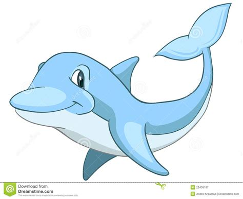 Cartoon Character Dolphin Royalty Free Stock Photography
