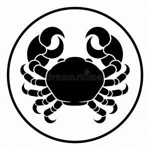 Cancer Horoscope Zodiac Sign Crab Stock Vector ...