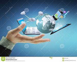 Technology In The Hands Royalty Free Stock Images - Image ...