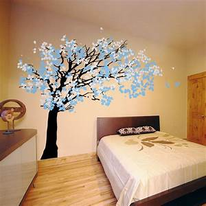 decorating a large family room cherry blossom bedroom With kitchen colors with white cabinets with cherry blossom wall art stickers