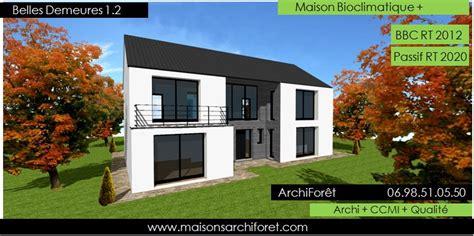 plan maison plain pied 4 chambres garage belles demeures constructeur de maisons classique ossature