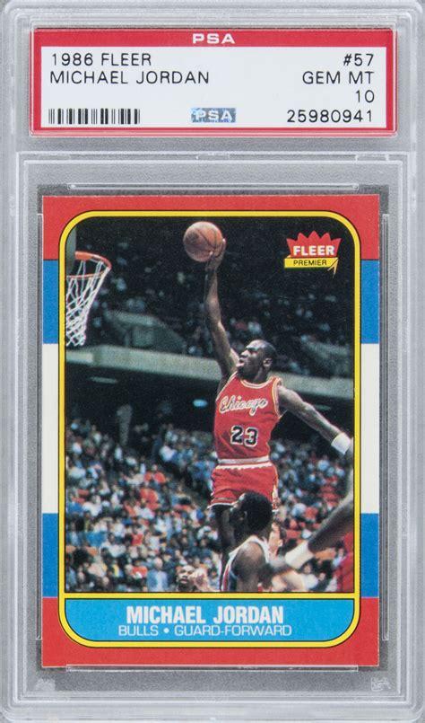 Find the best michael jordan rookie cards. Lot Detail - 1986/87 Fleer #57 Michael Jordan Rookie Card - PSA GEM MT 10