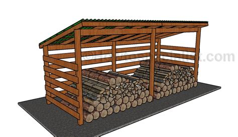wood shed plans simple firewood shed plans howtospecialist how to
