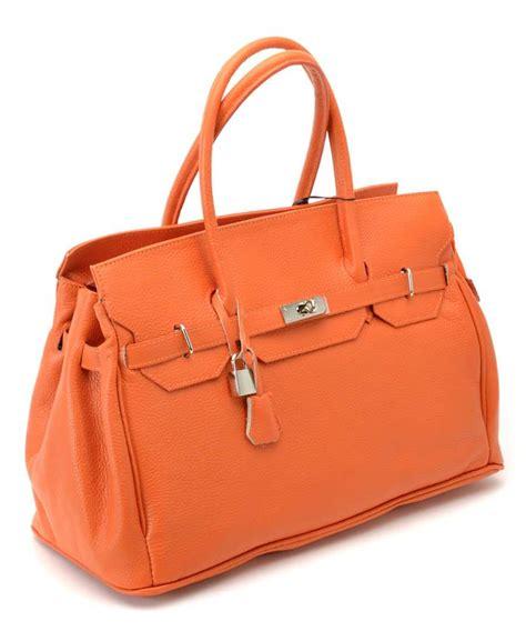 bright bags jane leather handbag  orange designer bags sale outlet secretsales