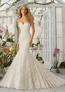 allover lace mermaid wedding dress with pearls style With wedding dresses with pearls and lace