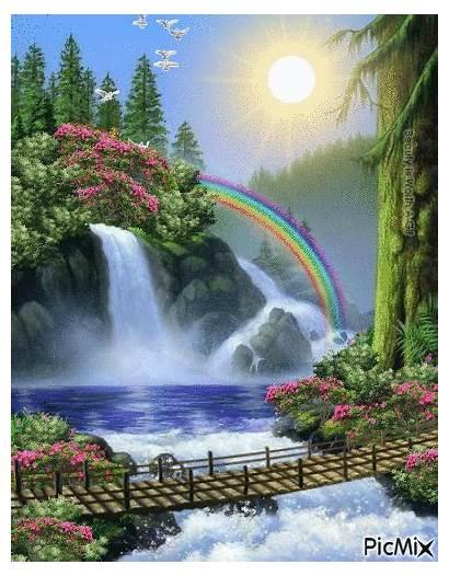 Nature Waterfall Waterfalls Gifs Places Scenery Anna