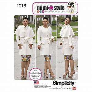 Pattern for Misses' & Plus Size Coat by Mimi G Style