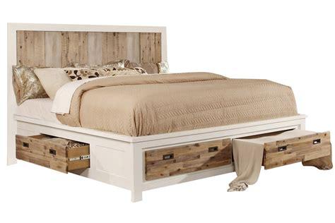 western king bed with storage at gardner white