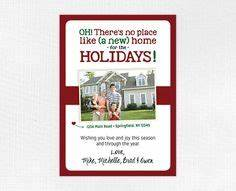 new address christmas card custom combination by helloinklings With custom new address cards
