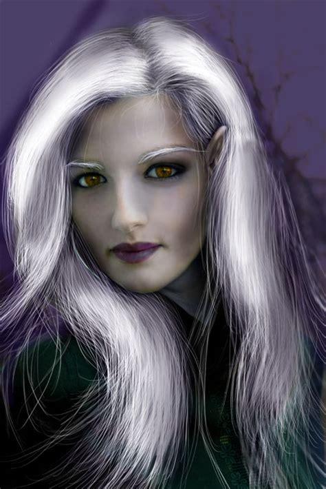transform  female   dark elf  photoshop drawing