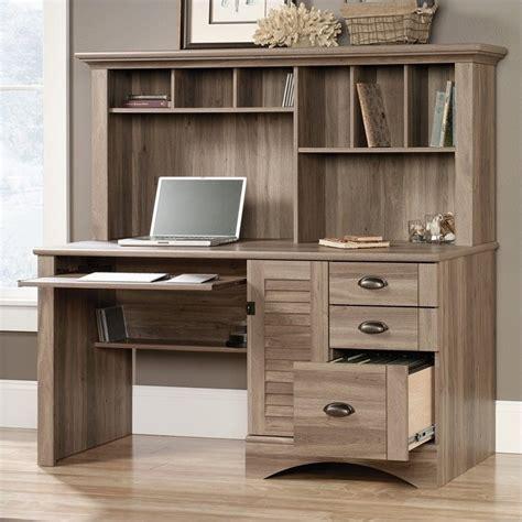 oak desk with hutch computer desk with hutch in salt oak 415109