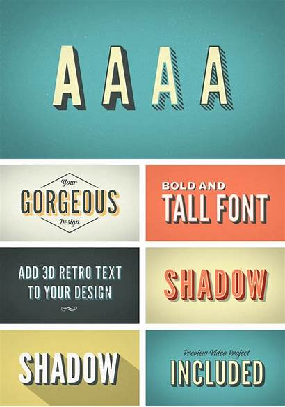 Retro Typography Kinetic 3d Template Videohive Effects