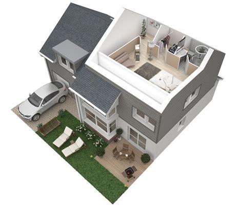 plan maison 3 chambres etage plans 3d d appartements studios maisons plus immo
