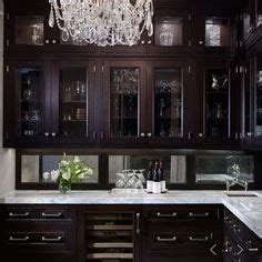 black stained kitchen cabinets kitchens butler s pantry espresso stained glass front 4745