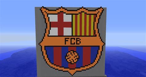 barcelona logo pixel art minecraft project