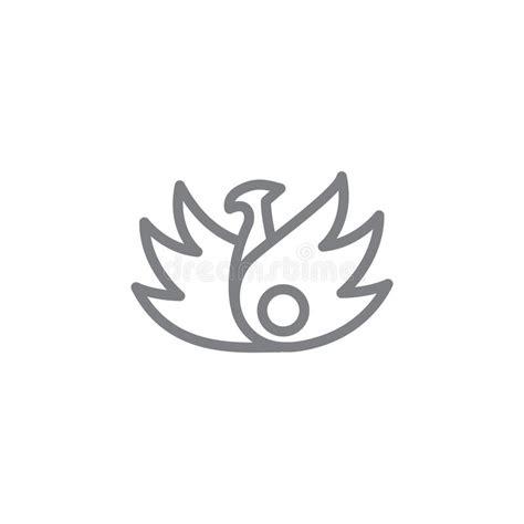 phoenix rising etching stock vector illustration