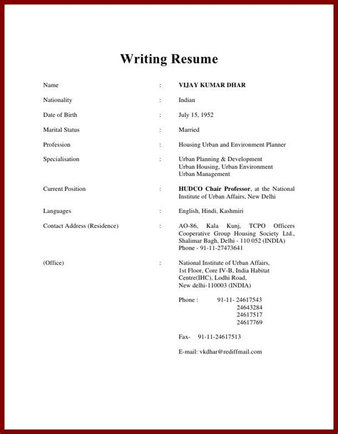 How To Prepare Resume by Preparing A Resume Resume Template Ideas