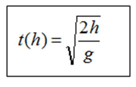 den freien fall berechnen