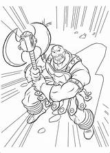 Thor Coloring Executioner Enemy Pages Fun sketch template