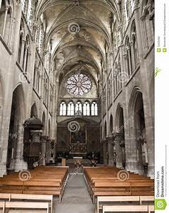 Inside medieval cathedral. stock photo. Image of heaven ...