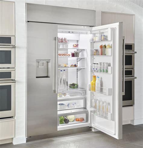 monogram zisnnii  cu ft smart built  side  side refrigerator panel ready