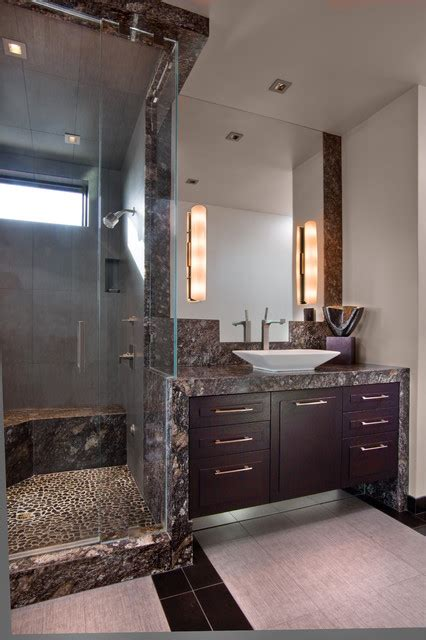 river rock tile  bathroom design  great